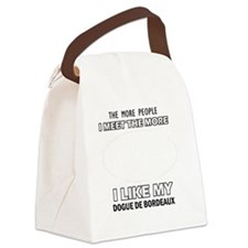 I Like My Dogue De Bordeaux Canvas Lunch Bag