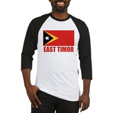 East Timor Flag Baseball Jersey
