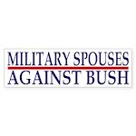 Military Spouses Against Bush (Sticker)