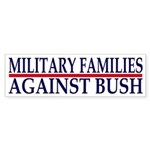 Military Families Against Bush (Sticker)