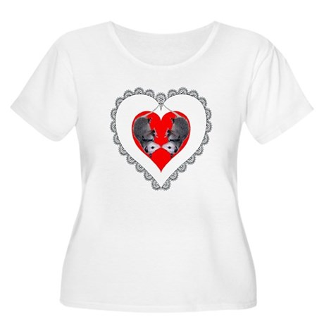 Opossum Valentines Day Heart Women's Plus Size Sco