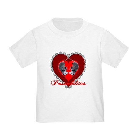 Possumbilities Valentines Day Toddler T-Shi
