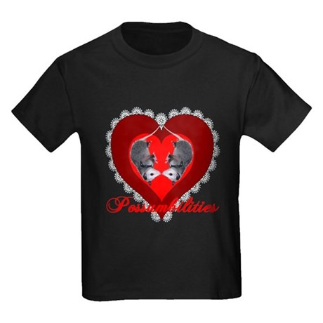 Possumbilities Valentines Day Kids Dark T-Shirt