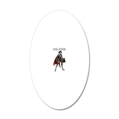 Paladin 20x12 Oval Wall Decal