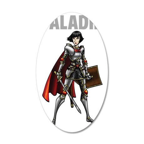 Paladin 35x21 Oval Wall Decal