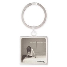 Patti Smith Poster Square Keychain
