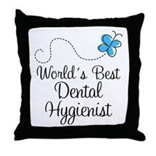 Dental Hygienist (World's Best) Throw Pillow