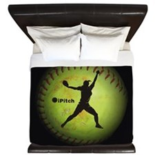 iPitch Fastpitch Softball (left handed) King Duvet