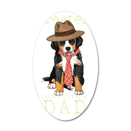 Berner Dad 35x21 Oval Wall Decal