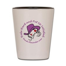 cowgirl tagline Shot Glass