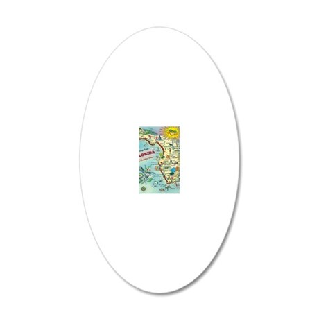 Vintage Greetings from Flori 20x12 Oval Wall Decal