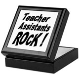 Teachers Assistants Rock ! Keepsake Box