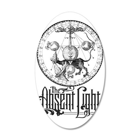 The Absent Light Astrology 35x21 Oval Wall Decal