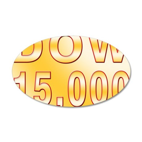 DOW 15000 35x21 Oval Wall Decal