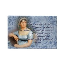 Jane Austen Quote Rectangle Magnet