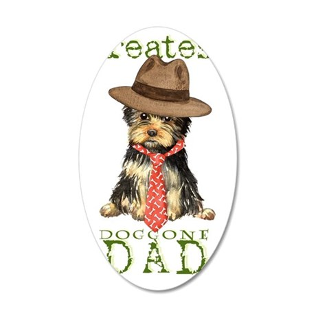 yorkie dad1k 35x21 Oval Wall Decal