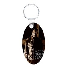 Back To Frank Black Book Co Aluminum Oval Keychain