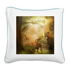 Fairy Woodlands 2 Square Canvas Pillow