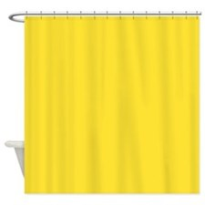 Solid Lemon Yellow Shower Curtain