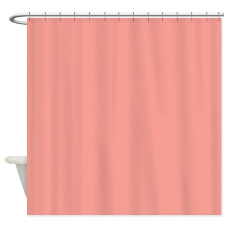 Solid Salmon Shower Curtain