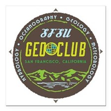 "GeoClub logo4 mud stomp  Square Car Magnet 3"" x 3"""