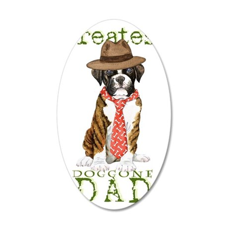 boxer dad1 35x21 Oval Wall Decal