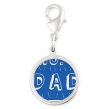 no.1DAD in the world Silver Round Charm