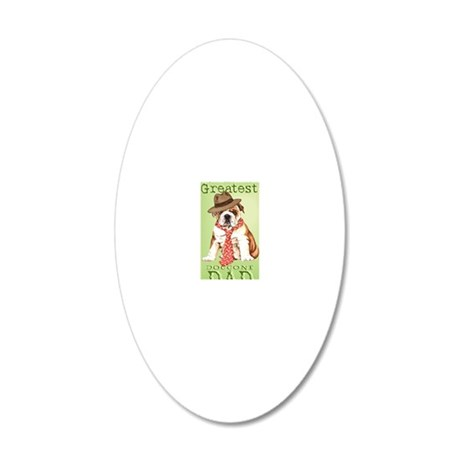 bulldog dad-card 20x12 Oval Wall Decal