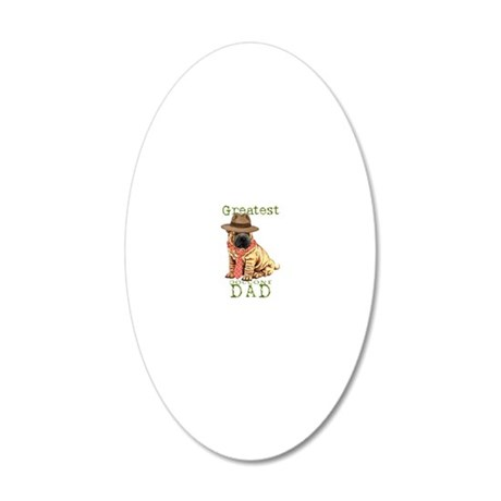 sharpei dad1 20x12 Oval Wall Decal