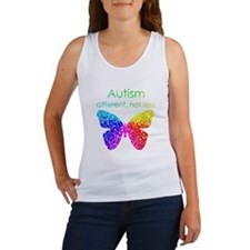 Autism Butterfly, different, not  Women's Tank Top
