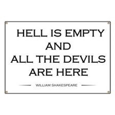 Hell is empty Banner