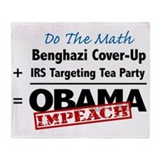 Benghazi Cover Up Impeach Obama Throw Blanket