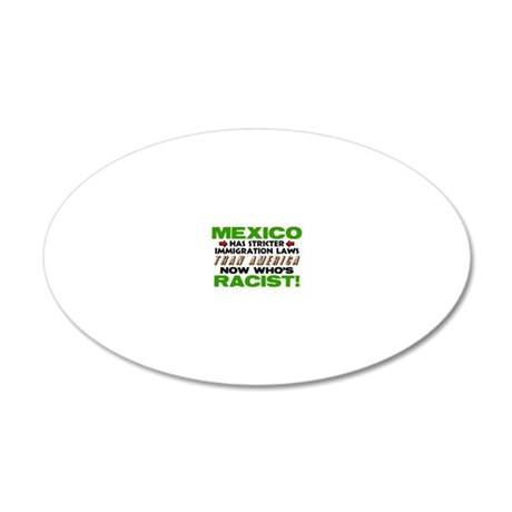 Now Whos Racist 20x12 Oval Wall Decal