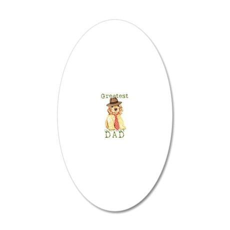 cocker dad1 20x12 Oval Wall Decal