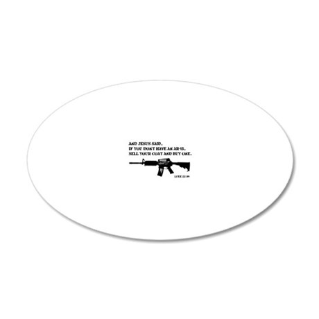 Jesus AR-15 20x12 Oval Wall Decal