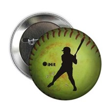 """iHit Fastpitch Softball (left handed) 2.25"""" Button"""