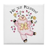 He is Risen! Lamb Tile Coaster