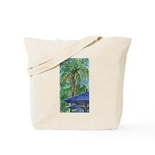 Blue Umbrella Tote Bag