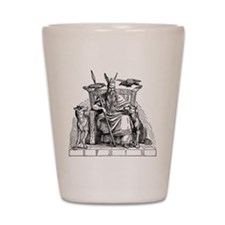 Odin with Ravens and Wolves Shot Glass