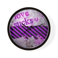 Punk You 1 Love Sucks Wall Clock