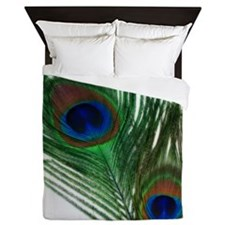 Romantic Peacock Feather Queen Duvet