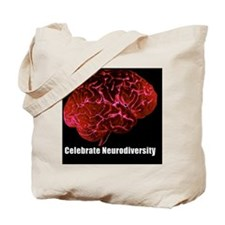 Celebrate Neurodiversity with Red Brain S Tote Bag