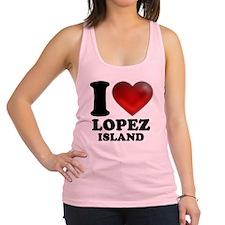 I Heart Lopez Island Racerback Tank Top