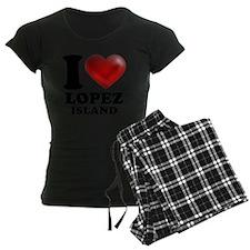 I Heart Lopez Island Pajamas