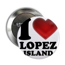 "I Heart Lopez Island 2.25"" Button"
