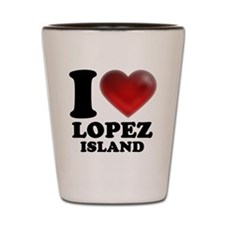 I Heart Lopez Island Shot Glass