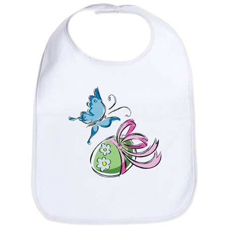 Easter Egg and Butterfly Bib