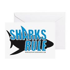 sharks rule WHITE SHIRT Greeting Card