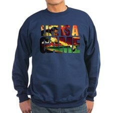 life is a game billard Sweatshirt