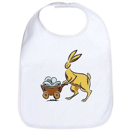 Easter Bunny with White Eggs Bib